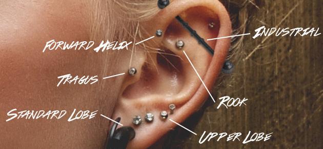 Fül piercing fajták